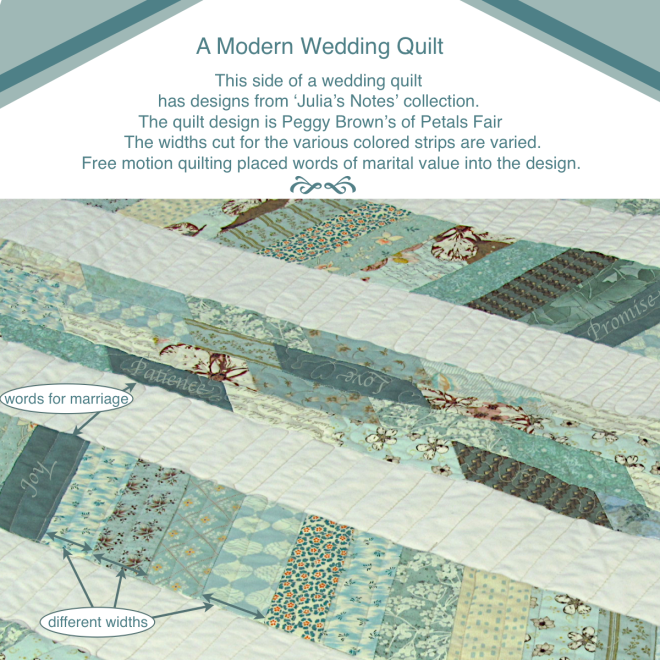 Wedding Quilt with Julia'a Notes collection pieces