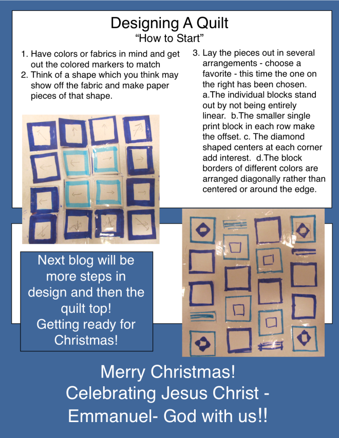 Designing A Quilt - blog Dec 2015